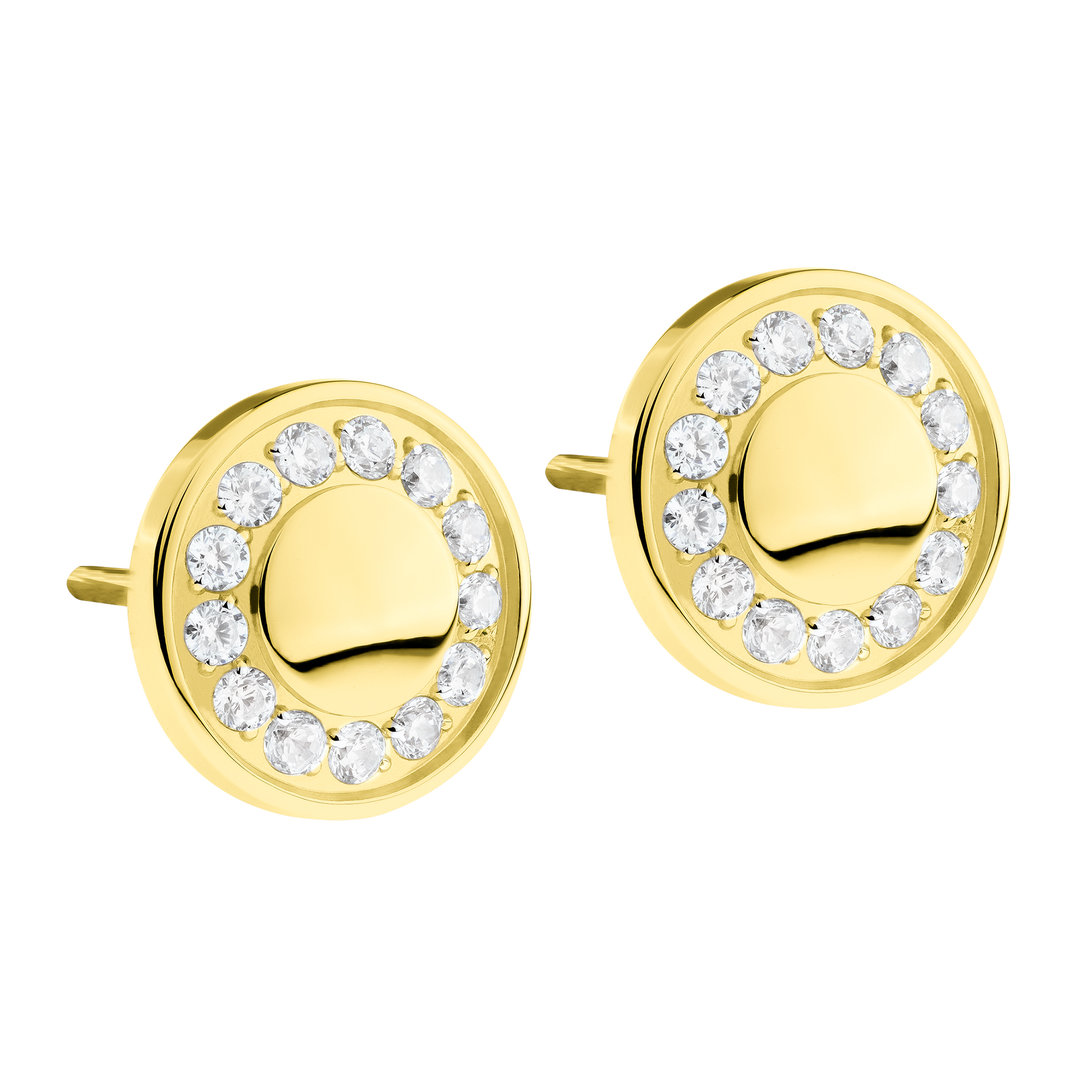 Ernstes Design Earrings in gold with swarovski stones