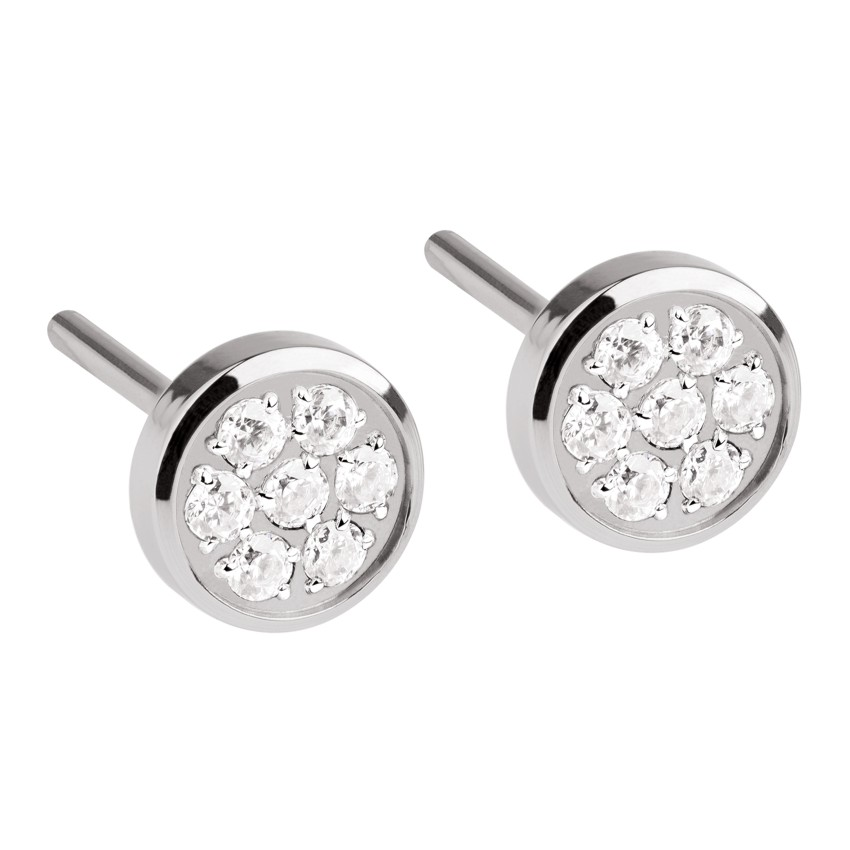 Ernstes Design Earrings in Silver with swarovski stones (small)