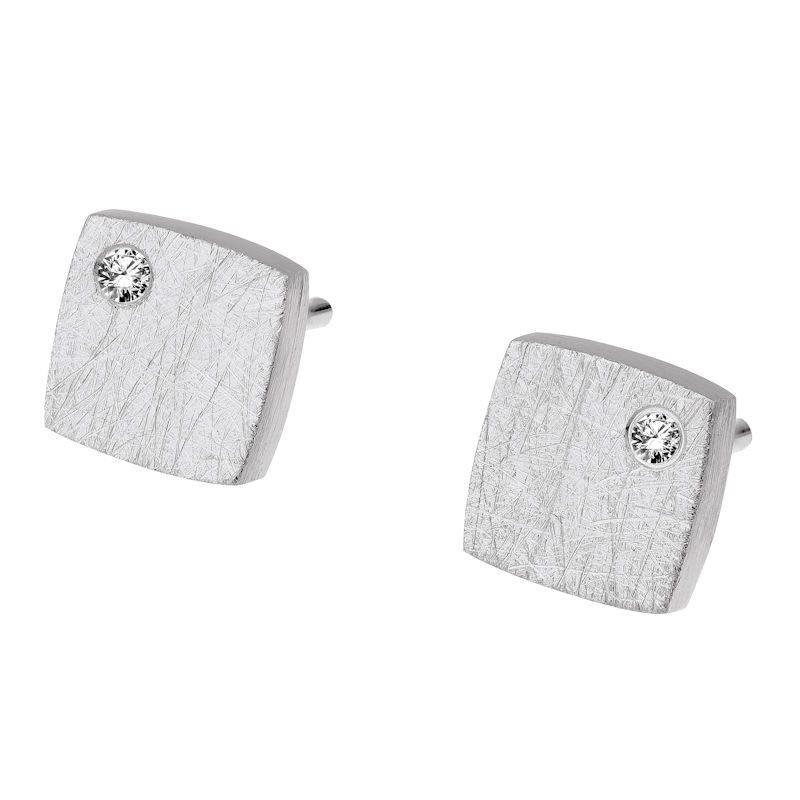 Ernstes Design Square Earrings in Silver
