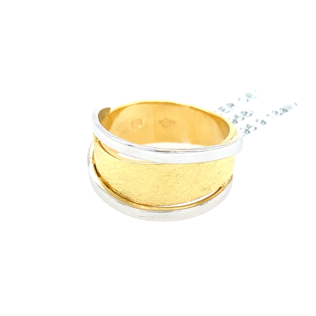 bicolored Yellow and White Gold ring