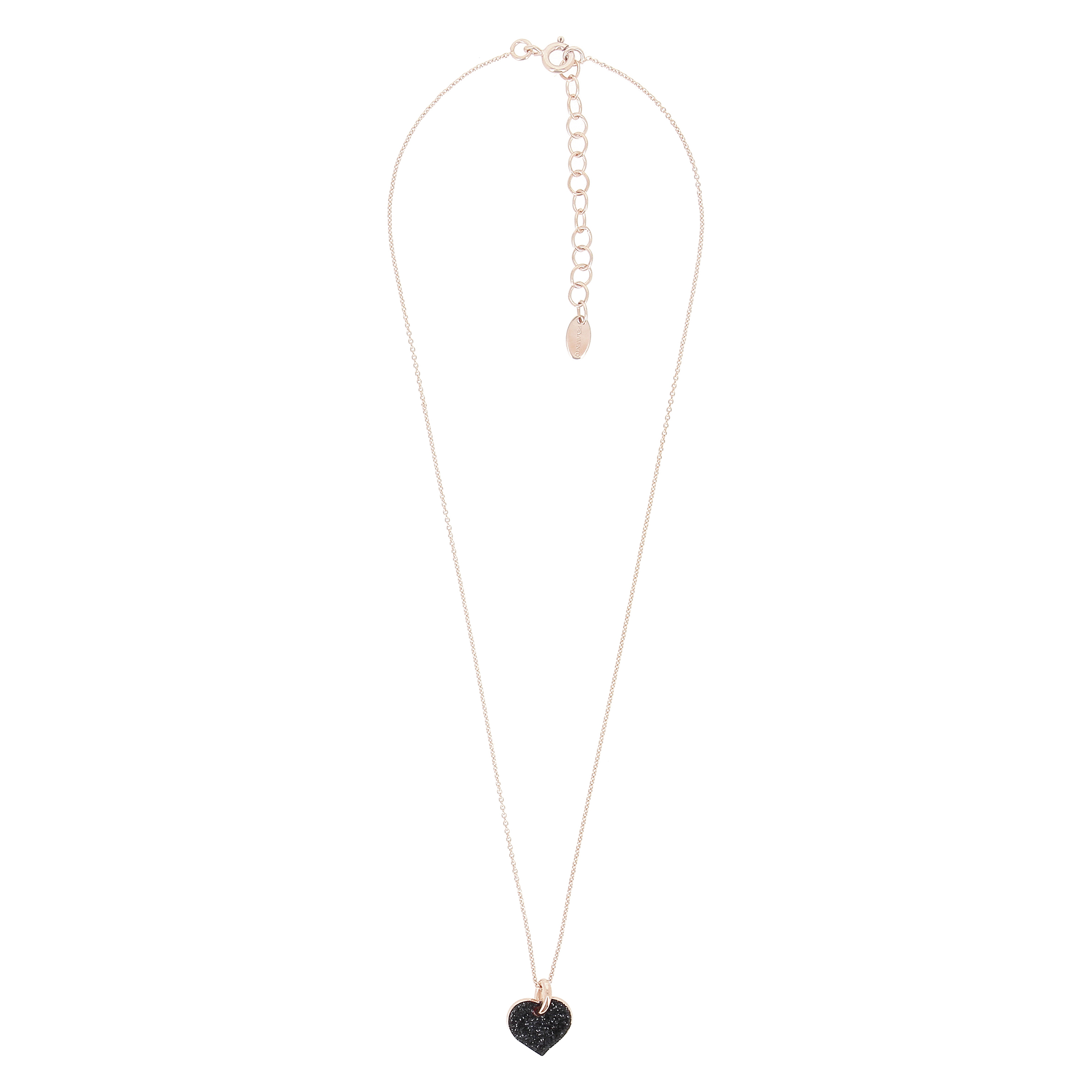 PESAVENTO Necklace with black heart pendant